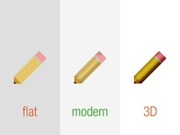 How flat should design be?