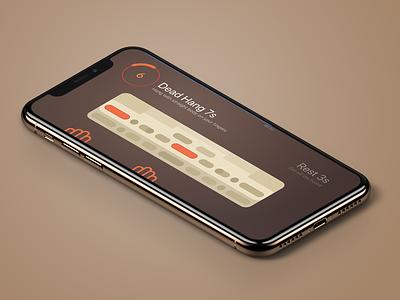 Fingy training screen minimalist hands counter timer beastmaker climbing flat ui iphone ios app