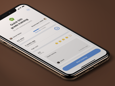 Training detail detail comment rating cards climbing button iphone ui ios app