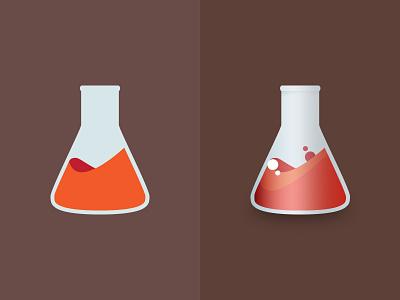 AB Test flask chemistry icon flat lab logo test ab