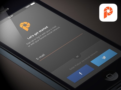 Pixbuf login ios button social input form iphone app