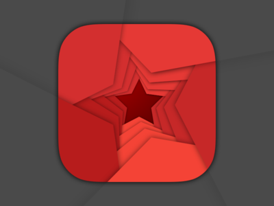 Material Star russia red star ios icon material
