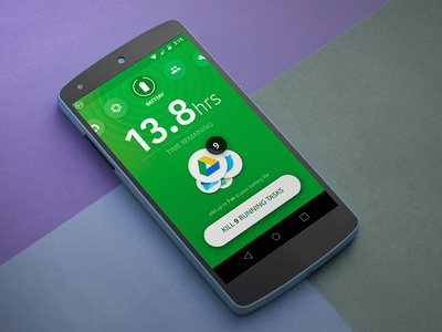 Avast Battery Saver: Main screen counter button mobile ui app android