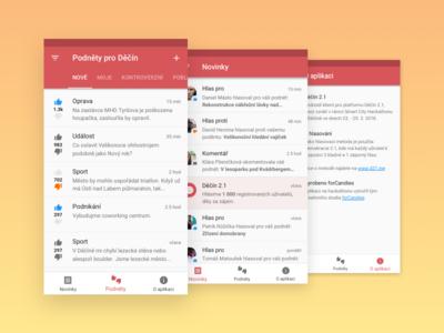 Děčín 2.1 Android list material app android