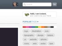 Dribbble profile icon