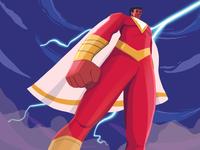 Shazam Illustration