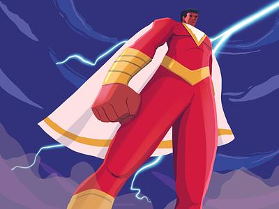 Shazam Illustration character illustration design