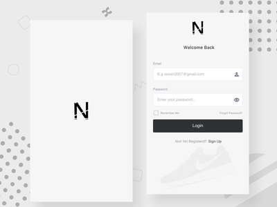 Login Splash Screen Design app design ui splash splash screen splashpage login login form login design login box nike minimal