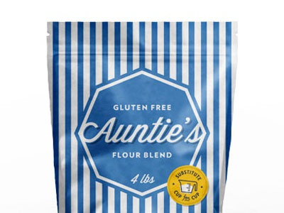 Auntie's Gluten Free Flour Packaging