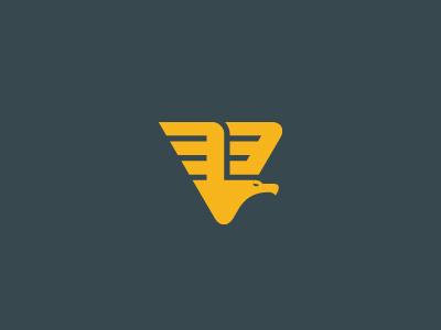 Tri-Eagle triangle v eagle bird logo wings flight fly geometric