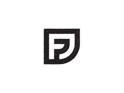 FJ Logo logo f j black stamp monogram shape geometric type typography