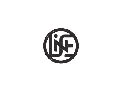 NILES Monogram name niles monogram thick lines n stamp logo letters lettering