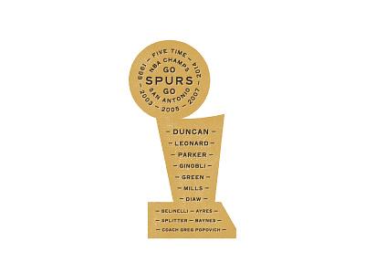Spurs Trophy spurs san antonio nba basketball trophy finals type typography