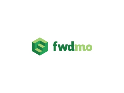 Fwdmo Logo stairs logo green steps hexagon shadow shades forward upward motion