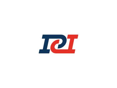 NPD Monogram Logo national america red white blue typography monogram logo slab serif p d
