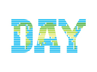 Earth Day 2015 custom slab earth day map world lines green blue type typography slab serif