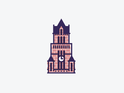 Clock Tower courthouse texas building brick architecture illustration tower clock