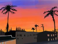 Los Angeles Bleeding Sunset