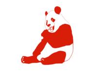 A very red panda