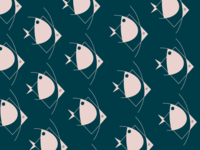 Abstract Angelfish Pattern