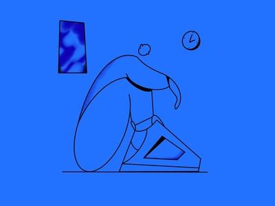 Feeling 🔵 art drawing procreate character illustration