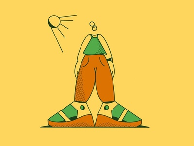 Sunnyside procreate character drawing illustration