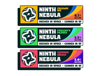 Ninth Nebula typography space design orion packaging brewery beer