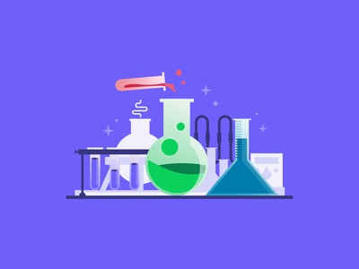 Early Access Illustration labratory science vector illustrator illustration