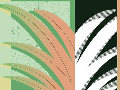 Plant texture gradient vector illustrator illustration
