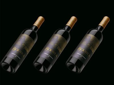 Boorla Wine fashion vector typography branding logo design logotype logo wine glass winery wine bottle wine label packaging design packaging package boorla wine
