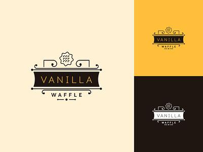 Vanilla logo illustration branding typography web logo icon vector fashion design