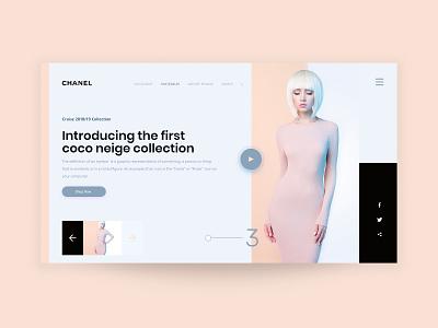 Chanel Website Design fashion brand fashion website web ux ui typography design