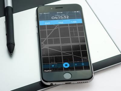 RouteTracker iOS app new design