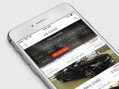 Dealership iOS App Filtering
