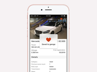 Car Dealership iOS app - saving overlay