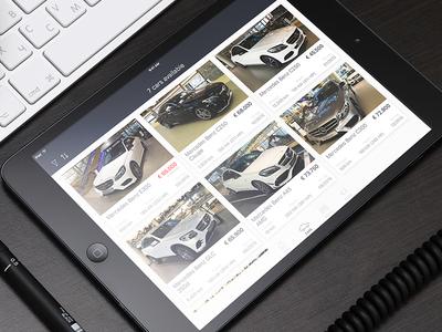Cars iPad app - gallery