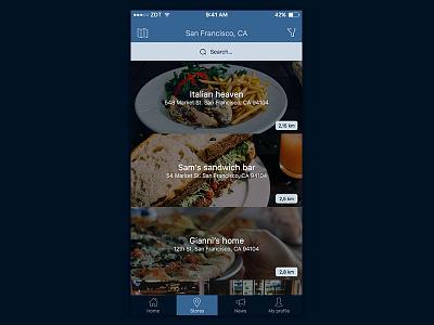 Store Locator iOS app - new design location store sketch mobile app ux ui new ios