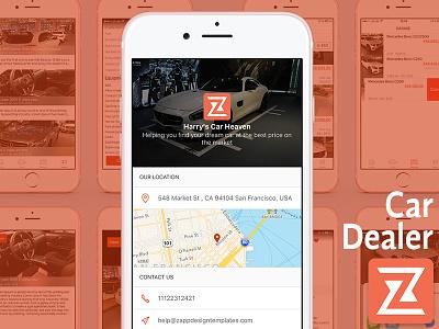 Car Dealer iOS app Ui layout car layout mobile iphone ux ui ios