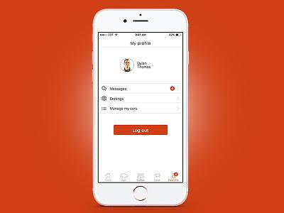 Car Dealer iOS App - Profile screen iphone app clean mobile ux ui profile ios