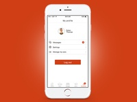 Car Dealer iOS App - Profile screen