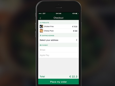 Checkout - Ecommerce iOS app product payment mobile app ux ui checkout ecommerce ios