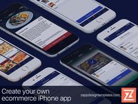 Ecommerce iPhone app layout