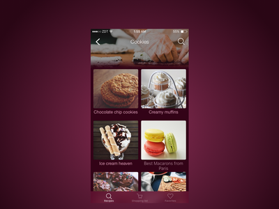Updated: Recipes iOS App ios ui ux sketch mobile iphone recipe cooking