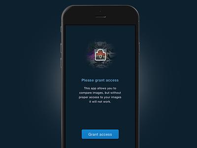 Fitcompare iOS app mobile ui lock restricted access photos ios