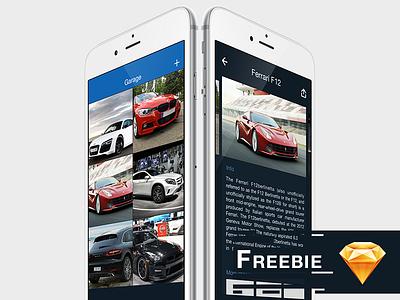 Freebie - iOS Ui designed in Sketch freebie free iphone cars design ui ios sketch