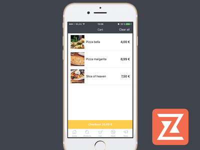 Checkout function in our Store app ios app app ui ux ios checkout cart add to cart store