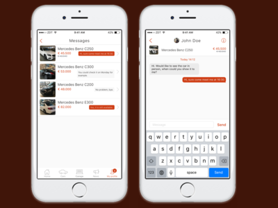 CarDealer iOS app template - Messaging Feature