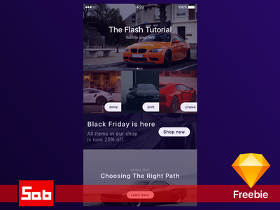 Playing around with Sketch - Car News app layout grid car ui cars freebie free sketch ux iphone ui ios