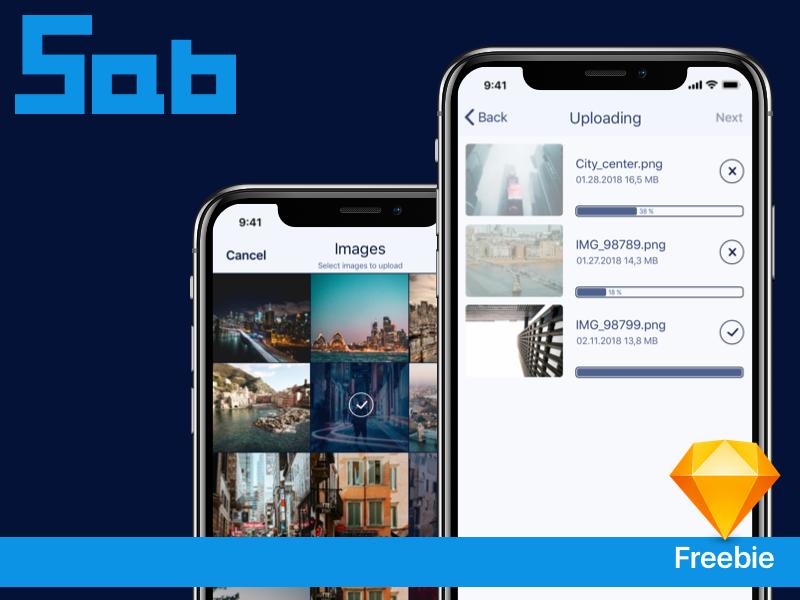 iOS - Image uploading screens youtube upload freebie free iphone ux ui ios