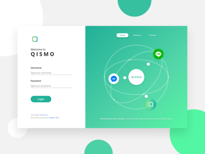 Qismo Project: Login Page qiscus saas ui design web design login page ui ux